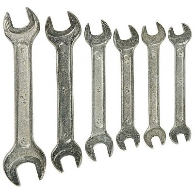 Набор рожковых гаечных ключей 6 шт, 8 - 19 мм, СИБИН