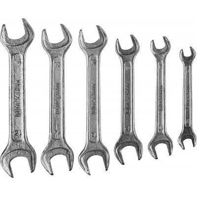 Набор рожковых гаечных ключей 6 шт, 6 - 15 мм, МЕХАНИК
