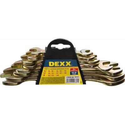 Набор рожковых гаечных ключей 8 шт, 8 - 24 мм, DEXX