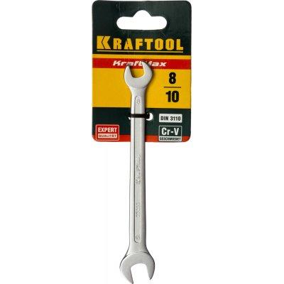 Рожковый гаечный ключ 8 х 10 мм, KRAFTOOL