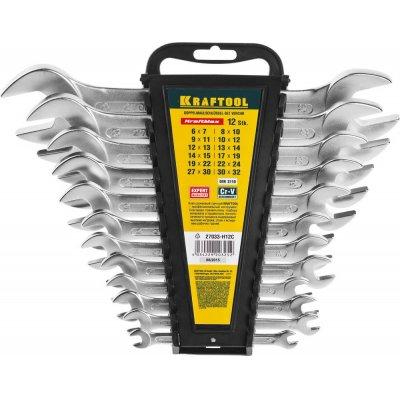 Набор рожковых гаечных ключей 12 шт, 6 - 32 мм, KRAFTOOL
