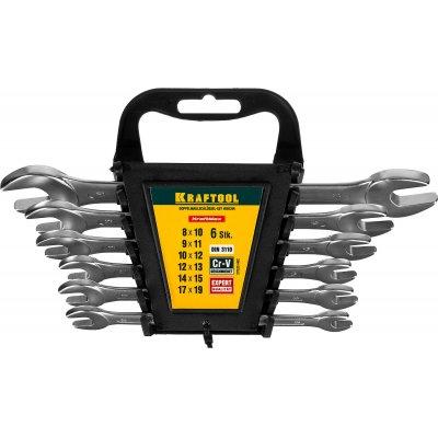 Набор рожковых гаечных ключей 6 шт, 8 - 19 мм, KRAFTOOL