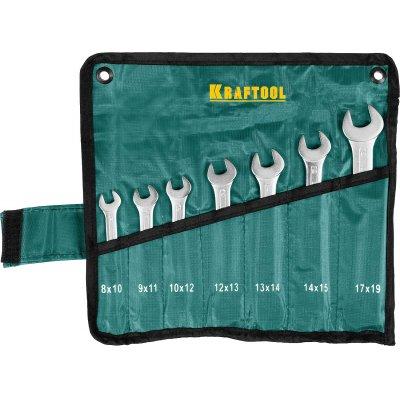 Набор рожковых гаечных ключей 7 шт, 8 - 19 мм, KRAFTOOL