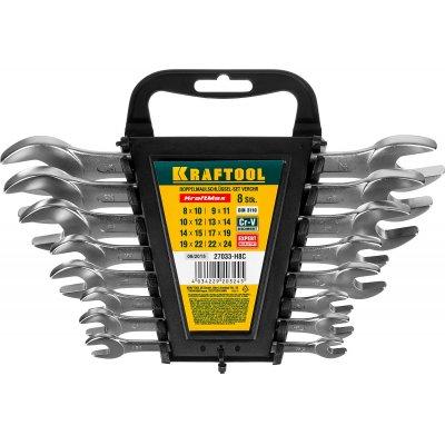 Набор рожковых гаечных ключей 8 шт, 8 - 24 мм, KRAFTOOL