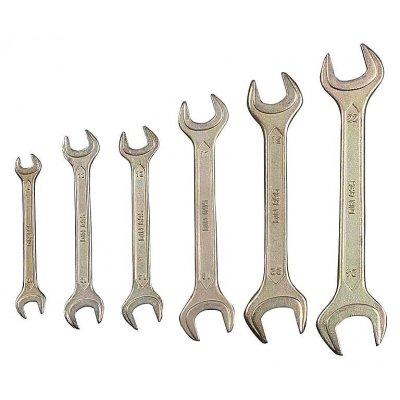 Набор рожковых гаечных ключей 6 шт, 8 - 24 мм, STAYER