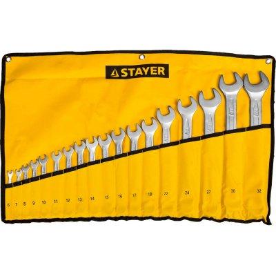 Набор комбинированных гаечных ключей 18 шт, 6 - 32 мм, STAYER