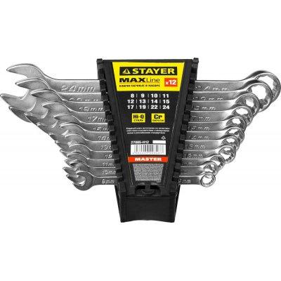 Набор комбинированных гаечных ключей 12 шт, 8 - 24 мм, STAYER