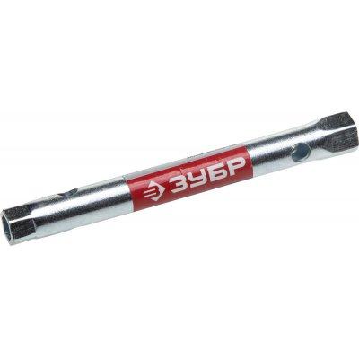 """Ключ торцовый ЗУБР """"Мастер"""", трубчатый двухсторонний, прямой, 8х10мм"""