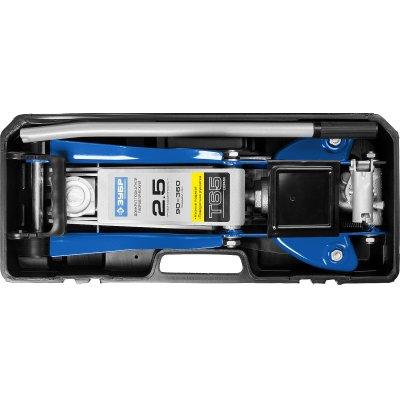 ЗУБР Т-65-K 2.5т 90-360мм подкатной домкрат с низким подхватом и поворотной ручкой в кейсе, Профессионал