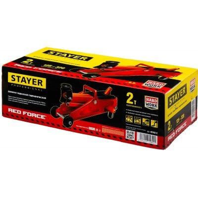STAYER R-22 2т 125-320мм подкатной домкрат для легковых а/м, RED FORCE