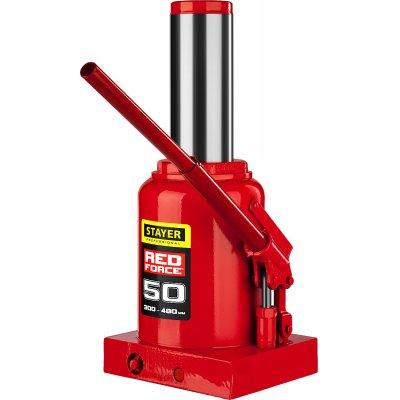 STAYER RED FORCE 50т 300-480мм домкрат бутылочный гидравлический