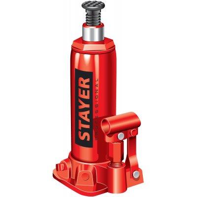 STAYER RED FORCE 8т 230-457мм домкрат бутылочный гидравлический