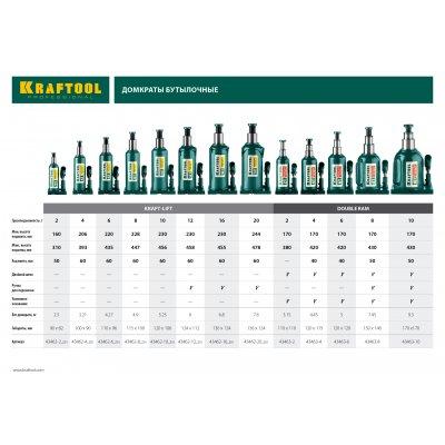KRAFTOOL KRAFT-LIFT 8т, 228-450мм домкрат бутылочный гидравлический, KRAFT BODY
