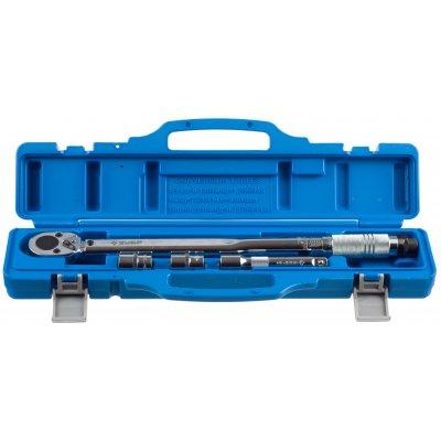"""Ключ динамометрический, 1/2"""", 42 - 210 Нм, с торцовыми головками 17, 19 мм и удлинителем 125мм, ЗУБР 64094-H4"""